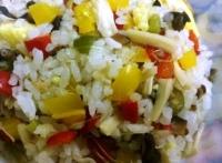 彩椒燉飯料理食譜-醬香彩椒菌菇燉飯做法秘訣:健康彩椒燉飯營養美味喔!
