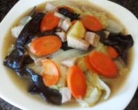 家常滷大白菜食譜-家常椰奶白菜滷做法料理:美味家常椰奶滷大白菜做法分享!